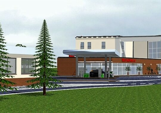 Archikom - Hotel Ines Stacja Paliw - wizualizacja