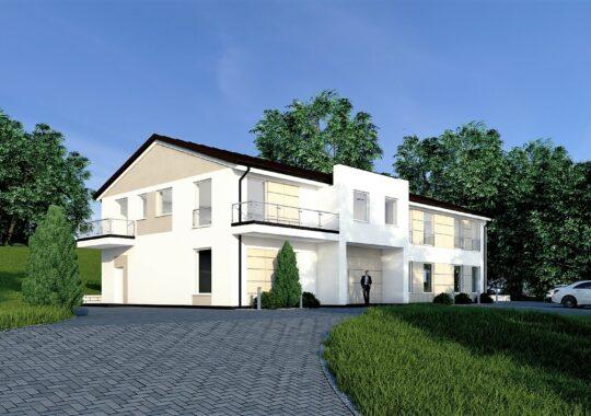 Archikom - Budynek usługowy Ropczyce - wizualizacja