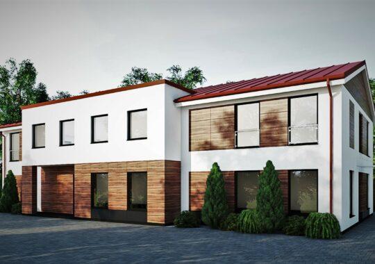 Archikom - Budynek usługowy Ropczyce - wizualizacja - - projekty budynków jednorodzinnych