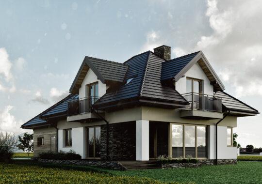 Archikom - Dom w Gnojnicy 2019 r. - projekty budynków jednorodzinnych